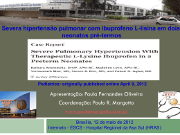 Severa hipertensão pulmonar com ibuprofeno L