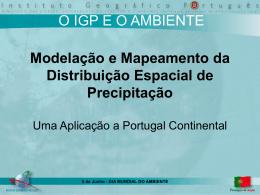 Modelação e Mapeamento da Distribuição Espacial de Precipitação