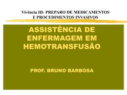 Hemotransfusão - Universidade Castelo Branco