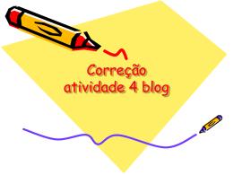 Correção atividade 3 blog