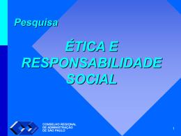 Grupos de Respondentes - Conselho Regional de Administração de