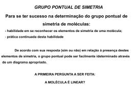 Grupos pontuais