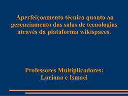 apresentação do curso - WIKIGERENCIAMENTOSTE