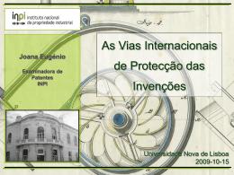 O pedido - Universidade Nova de Lisboa