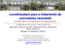 Levetiracetam para o tratamento de convulsões neonatais