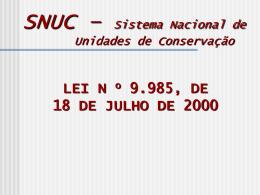 UNIDADE DE CONSERVAÇÃO - Universidade Castelo Branco