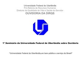 Ouvidoria UFU - DIRQS