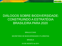 Diálogos sobre Biodiversidade: construindo a estratégia brasileira