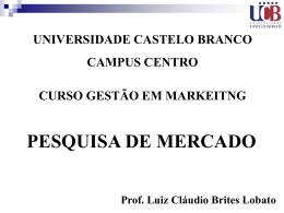 Gestão da qualidade - Universidade Castelo Branco