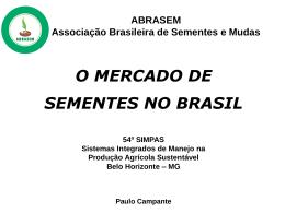O mercado de Sementes no Brasil - Emater-MG
