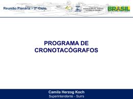 CAMILA HERZOG - CRONOTACÓGRAFO