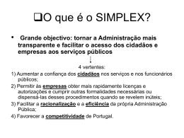O que é o SIMPLEX?