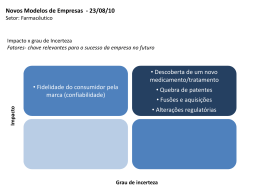 Matriz Grau de incerteza X Impacto