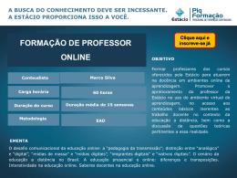 Formação de Professor para Docência Online