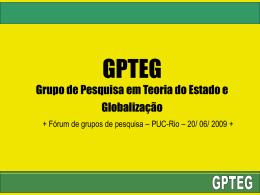 Teoria do Estado e Globalização (GPTEG)