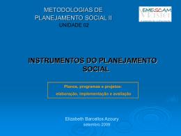 instrumentos do planejamento social