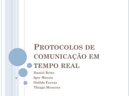 Apresentação de Protocolos de Comunicação em Tempo Real