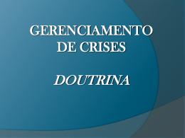 gerenciamento de crises doutrina