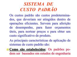 SISTEMA DE CUSTO PADRÃO