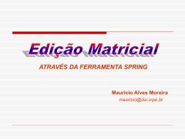 Edição Matricial Mauricio - DSR