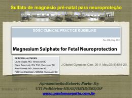 Sulfato de magnésio pré-natal para