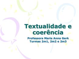 Textualidade e coerência