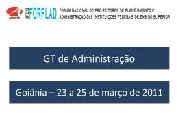 GT ADMINISTRAÇÃO - Unifal-MG