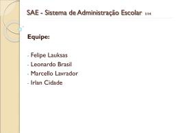 SAE - Sistema de Administração Escolar