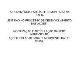 Apresentação da Bahia - Assistência e Desenvolvimento Social