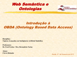 OBDA (Ontology Based Data Access)