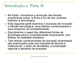 Inovação - Instituto de Economia da UFRJ