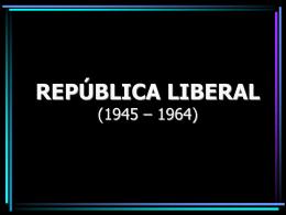Brasil República Liberal