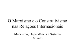 O Marxismo nas Relações Internacionais