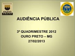 3º quadrimestre 2012