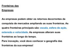 FRONTEIRAS DAS EMPRESAS