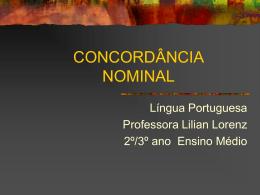 CONCORDÂNCIA NOMINAL - Turma 23
