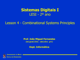 Combinational Systems Principles