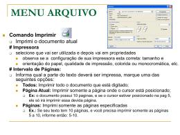 MENU ARQUIVO - Centro de Informática da UFPE