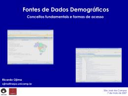Fontes de Dados Demográficos