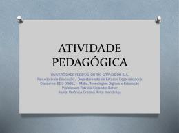 projeto pedagógico - Educação e Mídias