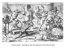 Theodory de Bry - Ilustração do relato das viagens de Hans Staden