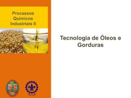 REVISÃO oleos e gorduras 2014