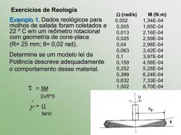 REOLOGIA DE ALIMENTOS