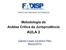 jurisprudência - Gabriel Lopes Coutinho Filho
