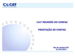 COGEF ANEXO 20 Prestação de Contas CONFAZ – Março2011