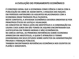 a evolução do pensamento econômico adam smith