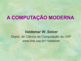 Computação moderna - IME-USP