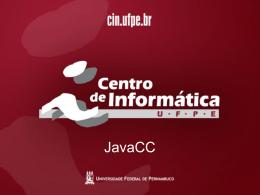 Aula Prática sobre JavaCC