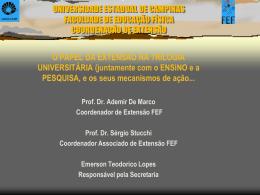 O Papel da Extensão na Trilogia Universitária