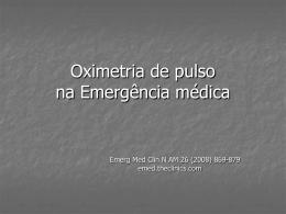 Oximetria de pulso na Emergência médica